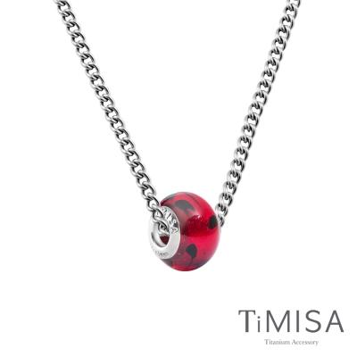 TiMISA 琉璃串珠(任選)  純鈦項鍊 M02D