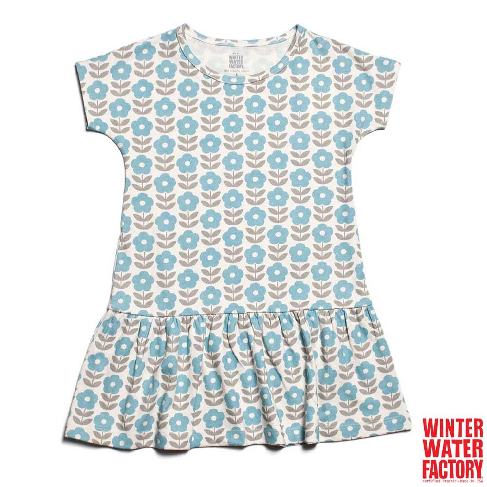 Winter Water Factory 藍雛菊女孩短袖洋裝