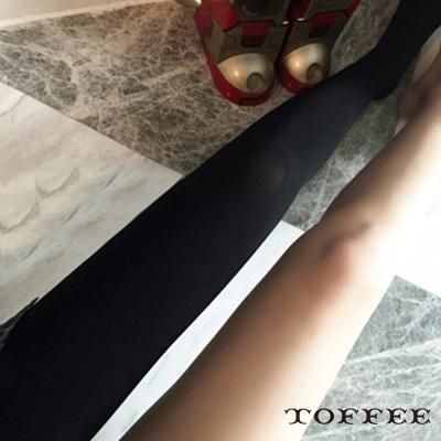鬆緊腰彈力薄絨連褲絲襪-TOFFEE