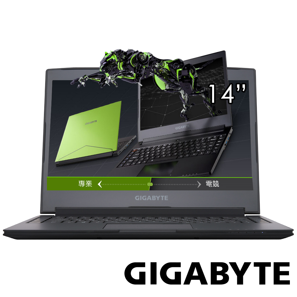 GIGABYTE技嘉 AERO14 14吋電競筆電(i7-6700/GTX965/256G/綠