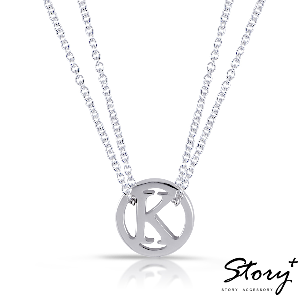 STORY故事銀飾-設計師系列-Simple單字雙層項鍊