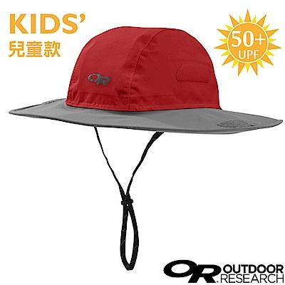 【美國 Outdoor Research】兒童款 防水透氣防風大盤帽_紅灰