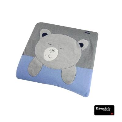 YVONNE-英吉利熊-5x7尺貼布繡單人四季被-暗灰色-3M新雪麗棉