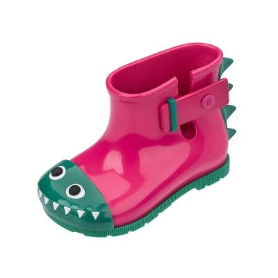 MINI MELISSA小鱷魚小童撞色雨靴-粉/綠