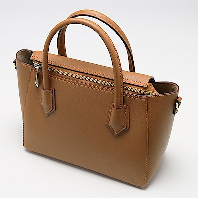 Charmii Chic 經典素面兩用手提包 棕色