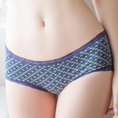 ONS-日本新習慣-舒棉蕾絲小褲-藏藍圖騰