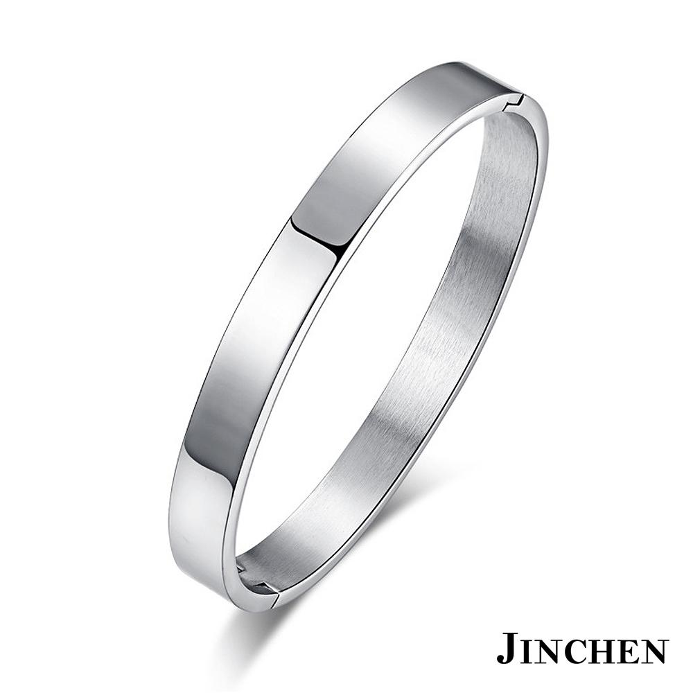 JINCHEN 白鋼相戀一世 情侶手環