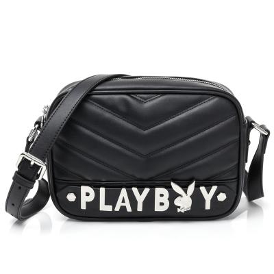 PLAYBOY- 斜背包 山形小兔系列-摩登黑