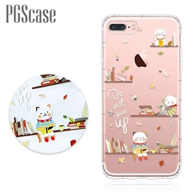 PGS iPhone8/7 Plus 5.5吋奧地利彩鑽防摔手機殼-貓咪書房