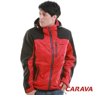 CARAVA 《男款機能保暖外套》大紅