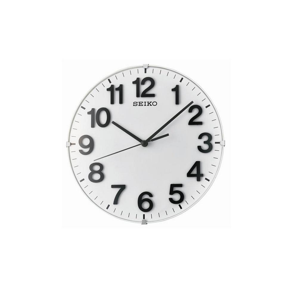 SEIKO 精工 滑動式秒針 靜音 座掛兩用 掛鐘/桌鍾(QXA656W)-白/21cm