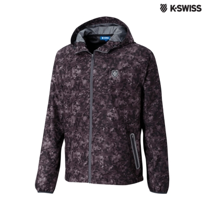 K-Swiss Camo Windbreaker風衣外套-男-幾何