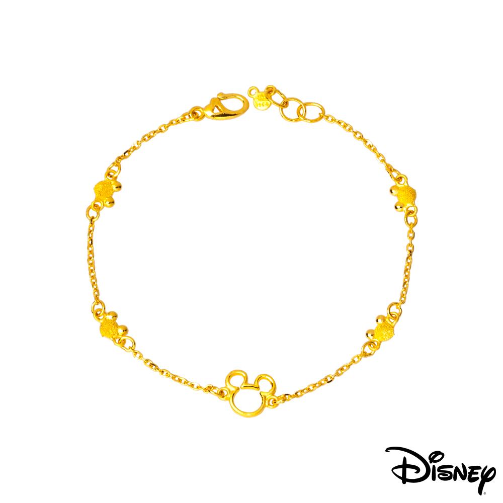 Disney迪士尼系列金飾 黃金手鍊-縷空米奇款