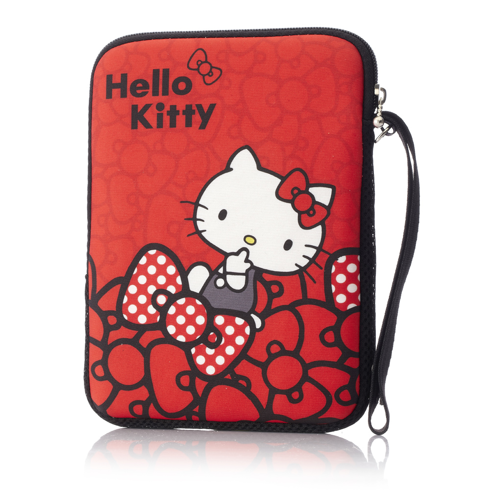 Hello Kitty 7吋平板保護袋-蝴蝶結紅