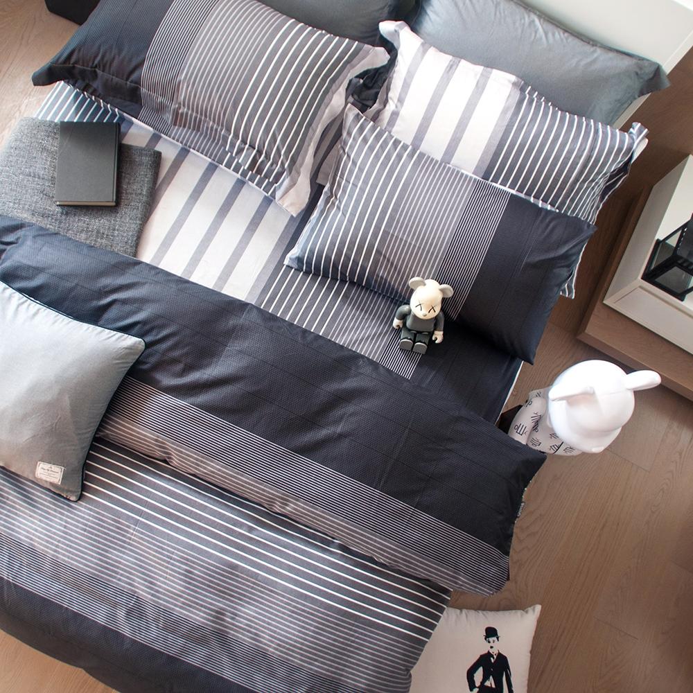 OLIVIA   諾爾曼 灰黑  雙人兩用被套床包四件組