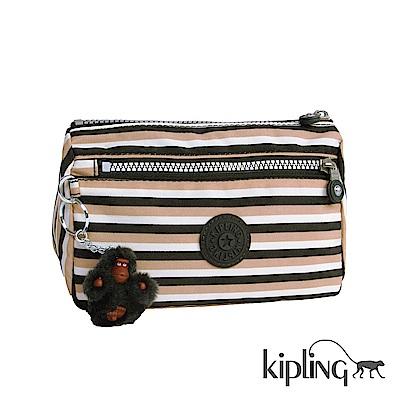 Kipling 零錢包 簡約條紋密橙-小