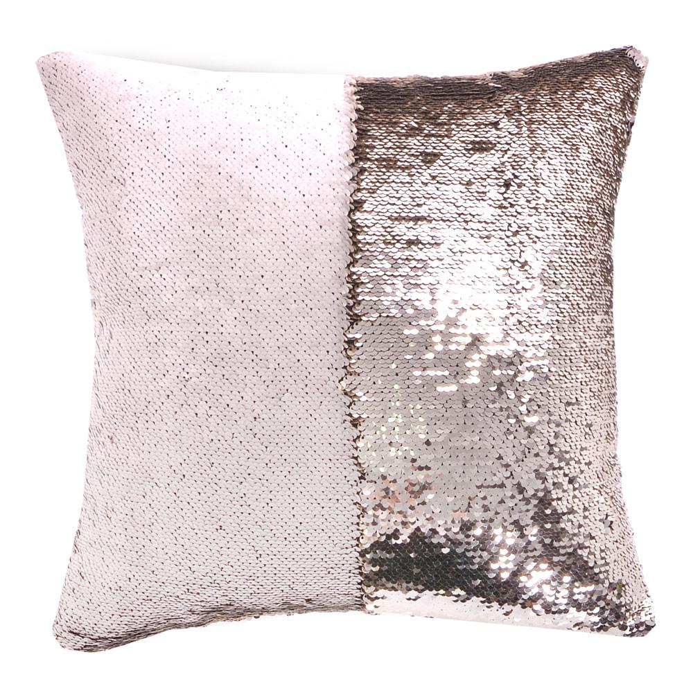 魔術雙色亮片方型抱枕/靠枕 (香檳米)