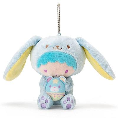 Sanrio 雙星仙子裝扮長耳兔造型玩偶吊鍊-KIKI(好朋友彩蛋)
