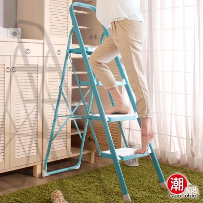 潮傢俬-Winston溫士登四層樓梯椅_雙色可選