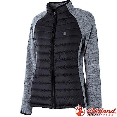 Wildland荒野 0A52993-54黑色 女RE羽絨拼接保暖外套