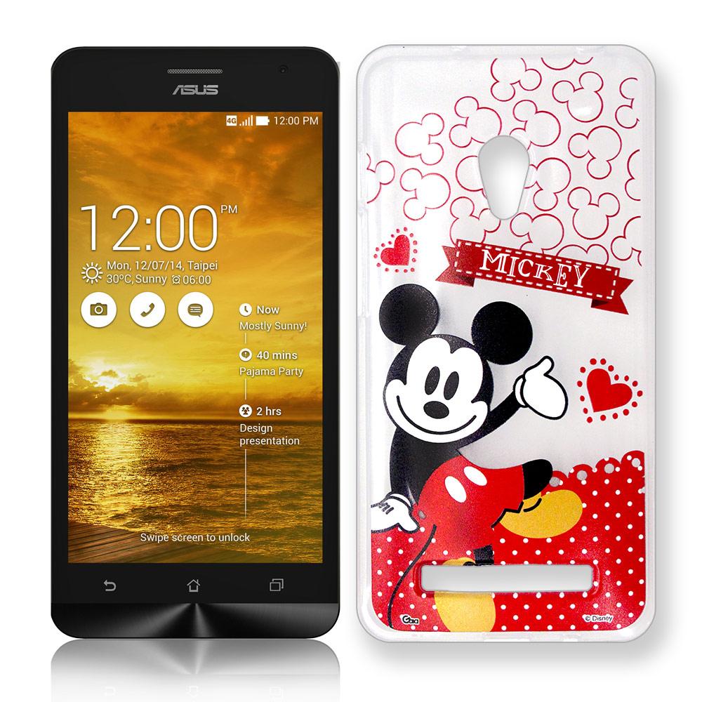 迪士尼ASUS ZenFone 5休閒點點透明軟式手機殼經典組