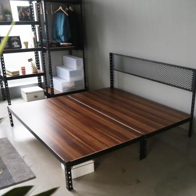 H&D 角鋼美學-工業風免鎖角鋼雙人床架-2色