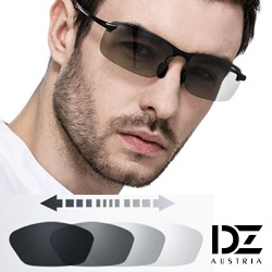 DZ 型潮格調變色片 抗UV 偏光 太陽眼鏡墨鏡(黑框)