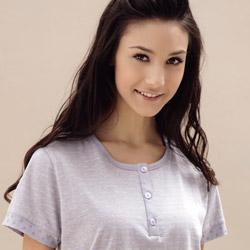 羅絲美 點點條紋短袖褲裝睡衣 (氣質紫)