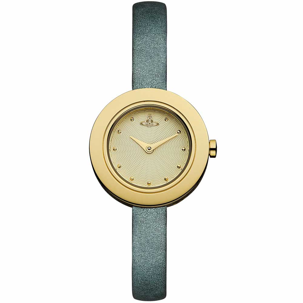 Vivienne Westwood 俐落風格時尚腕錶-金/28mm