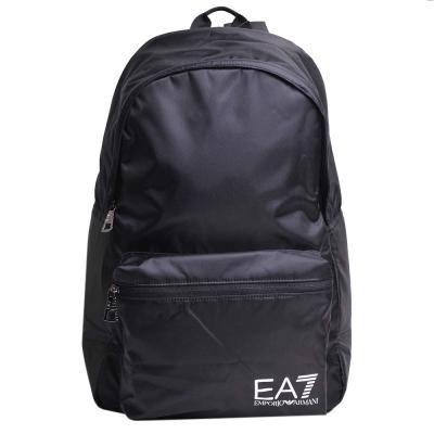 EMPORIO ARMANI EA7 品牌圖騰LOGO尼龍後背包(黑)