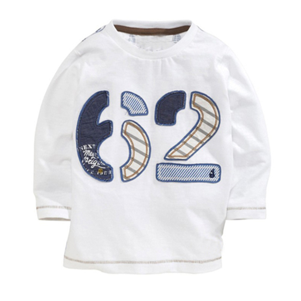 歐美風 數字 男童純棉長袖T恤