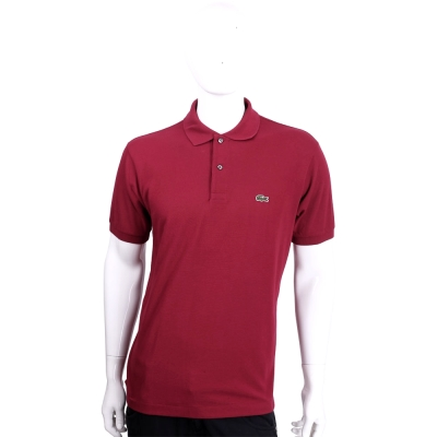 LACOSTE Classic Fit 紅色短袖棉質POLO衫(男款)
