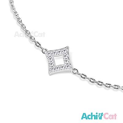 AchiCat 925純銀手鍊 知心閨蜜 幾何世界