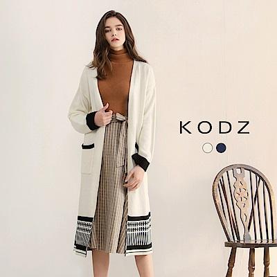 東京著衣-KODZ歐美時尚部落客民族風設計針織外套-S.M.L(共二色)