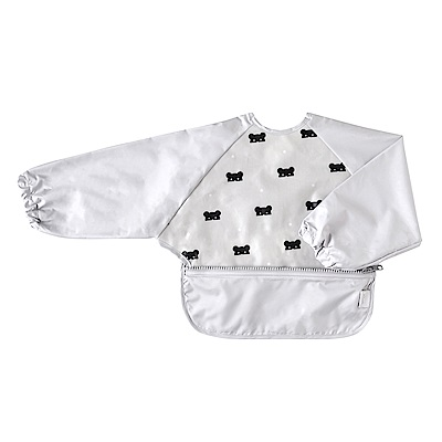 10mois 面具星彩熊收納式餐圍兜(長袖)