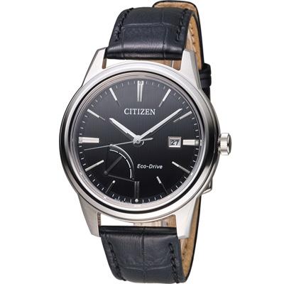 CITIZEN 能量顯示光動能紳士腕錶(AW7000-07E)-黑/41.5mm