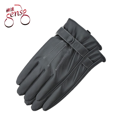 Sense神速 防潑水觸控防風機車皮手套(內刷毛/線條/男款)