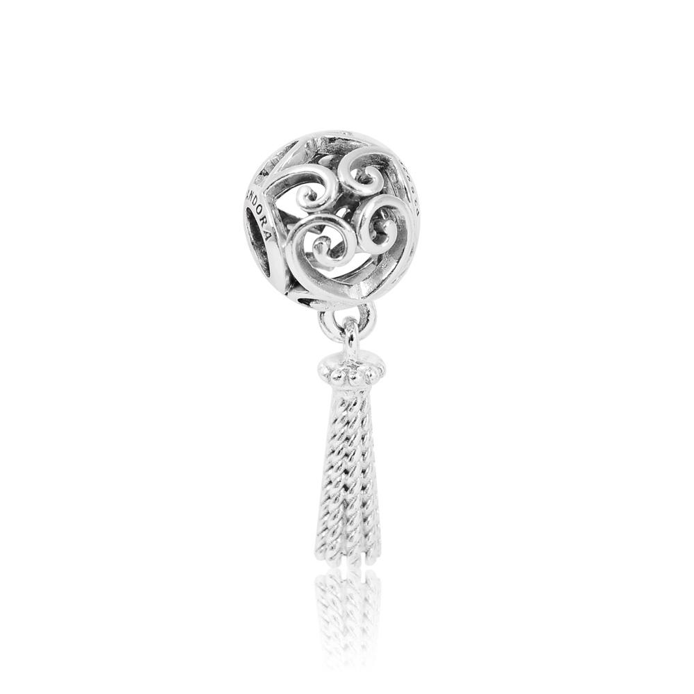 Pandora 潘朵拉  魔法之心垂墜流蘇 純銀墜飾 串珠