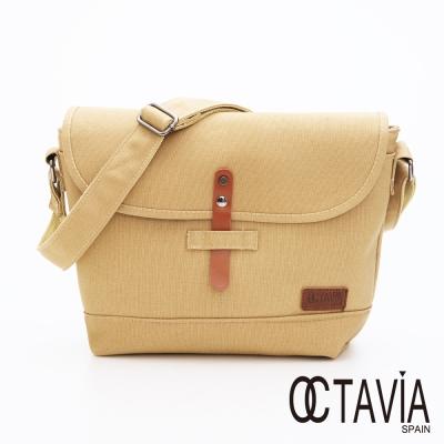 OCTAVIA 8 - 旅行行者 帆布插扣書包相機二用包- 迷卡其