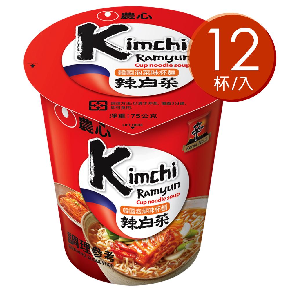 農心 泡菜味杯麵(75gx12入)
