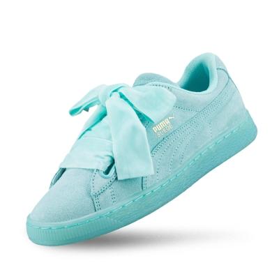 PUMA SuedeHeartReset女性復古籃球運動鞋-輕泉藍