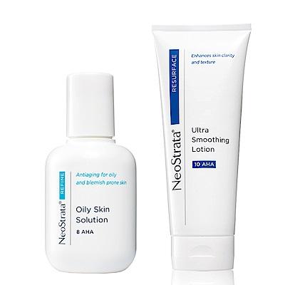 NeoStrata妮傲絲翠 果酸輕煥膚組(果酸油性膚質專用溶液+果酸活膚修護乳液)