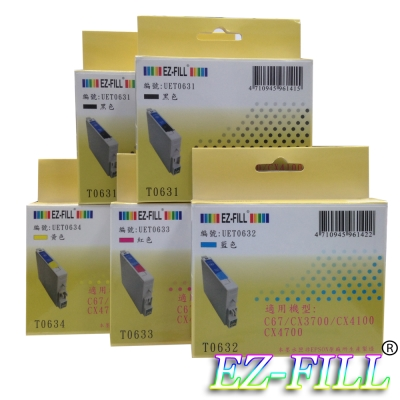 《EZ-FILL》EPSON T0631~T0634 優惠包 (2黑3彩)