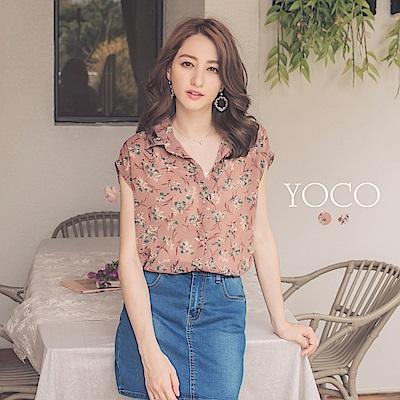東京著衣-yoco 南法浪漫兩件式碎花雪紡無袖上衣(共二色)