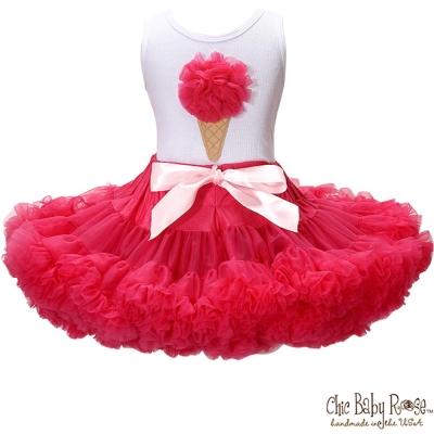 Chic Baby Rose 覆盆子手工雙層雪紡澎裙