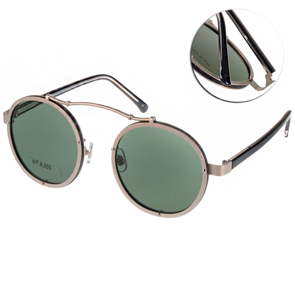 STEALER太陽眼鏡 圓框飛官款/槍銀#SLVISTA C03