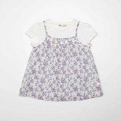 PIPPY 假兩件式印花上衣 紫