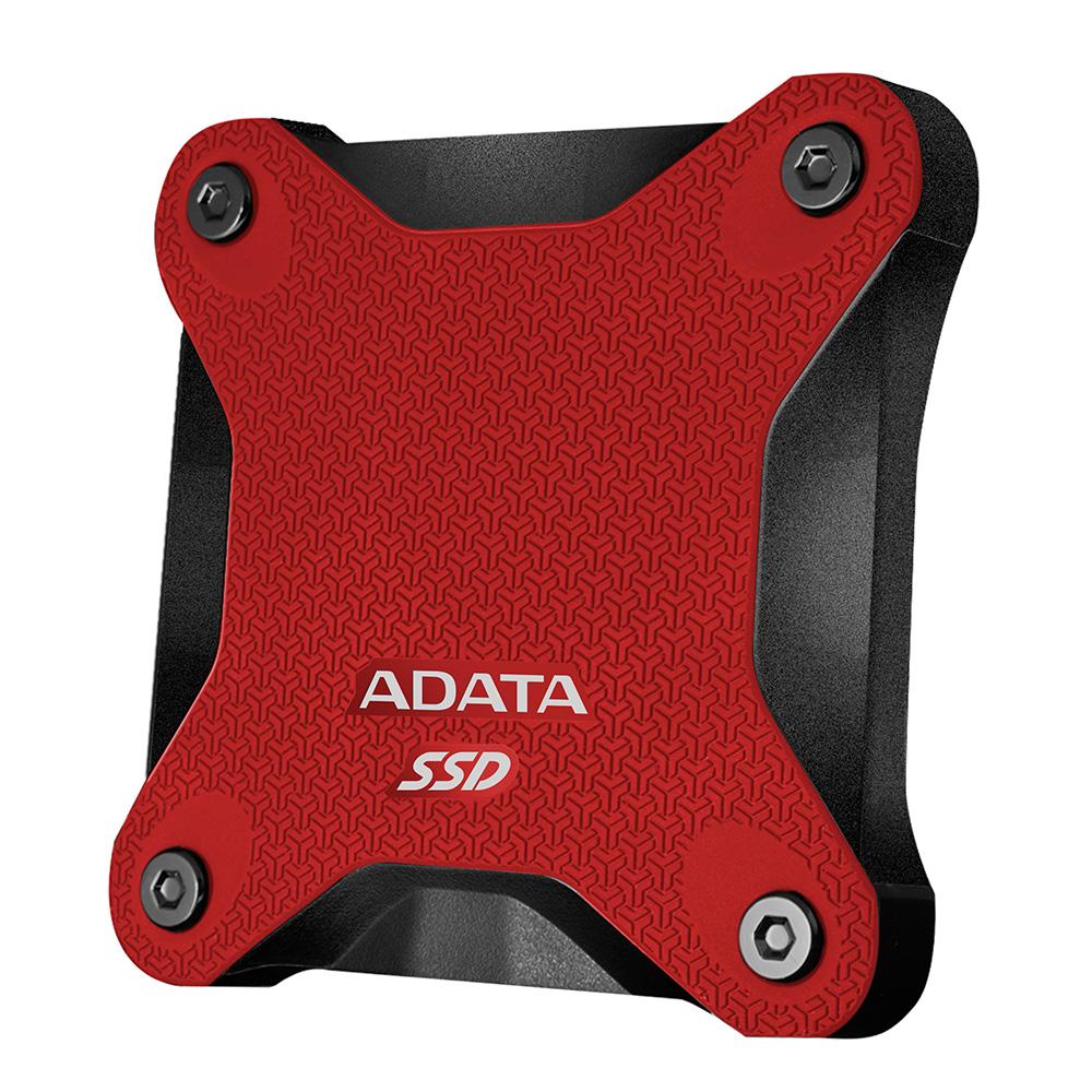 ADATA威剛 SD600 512GB USB3.1 外接式SSD行動硬碟-紅色