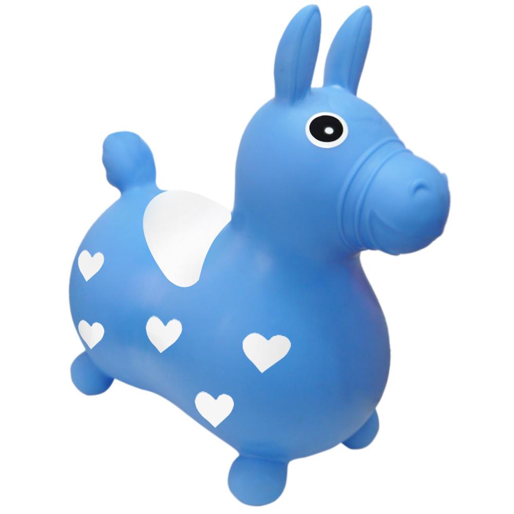 QQMa 快樂寶貝好開心充氣跳跳馬(藍)