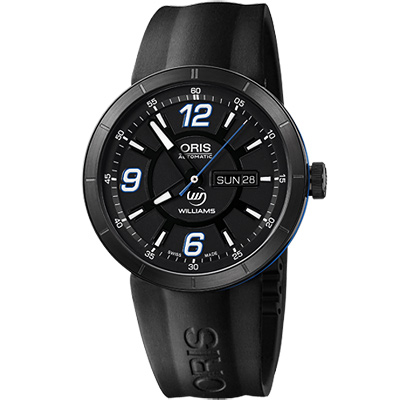Oris TT1 Day Date WilliamsF1 機械腕錶-黑/43mm